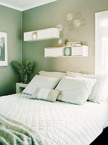 Quarto Verde Como fazer? Dicas e 47 fotos de projetos  ~ Quarto Verde Solteiro