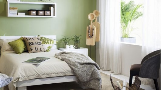 Quarto Verde Como fazer? Dicas e 47 fotos de projetos  ~ Quarto Pintado De Verde Musgo