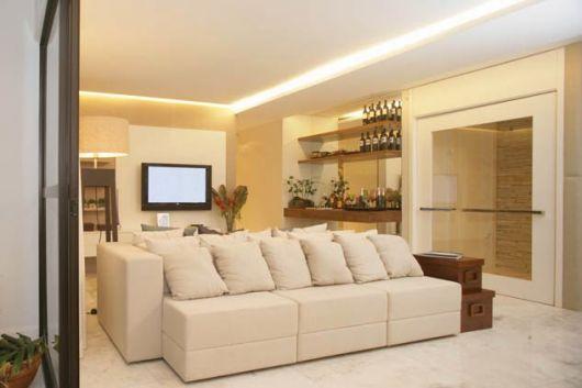 sala com iluminação