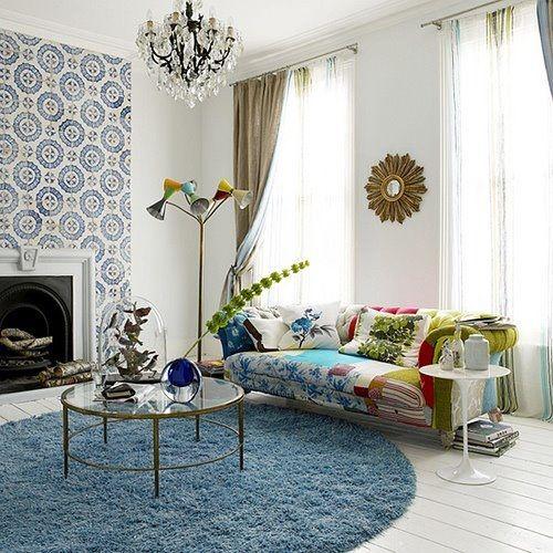 tapete azul decoração