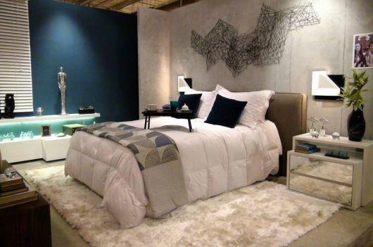 tapete branco quarto de casal