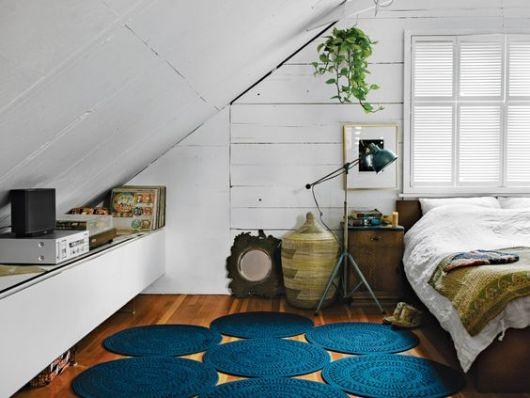 decoração rústica quarto