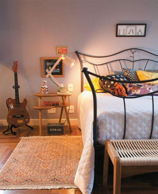 cama de ferro quarto