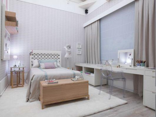 decoração clean quarto feminino