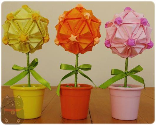 decoração origami