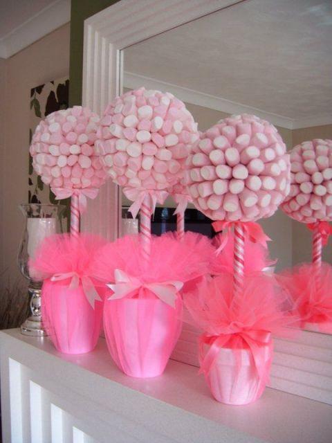 decoração cor de rosa