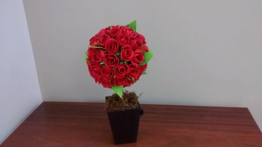 decoração rosas vermelhas