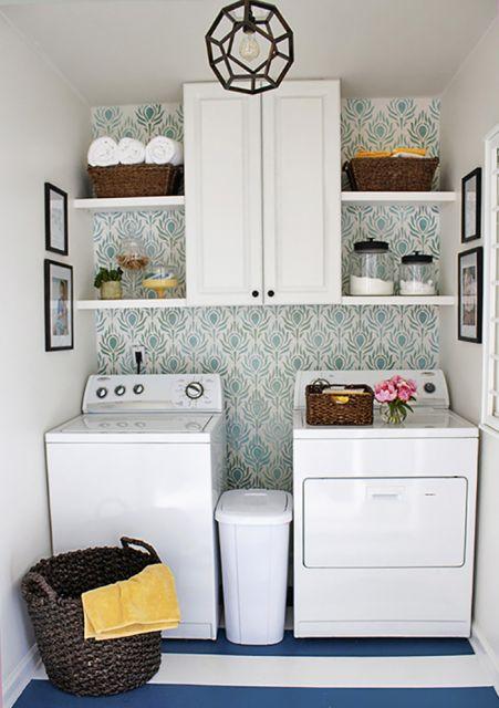 Rea de servi o simples decorada dicas 30 modelos e for Decorar lavaderos pequenos