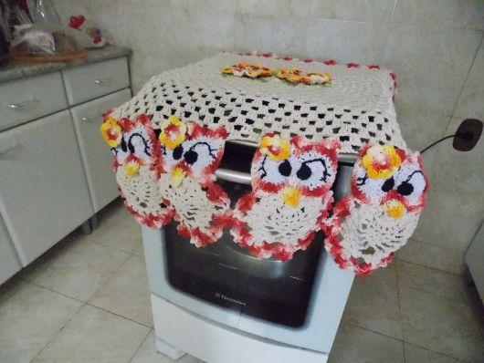 decoração coruja cozinha