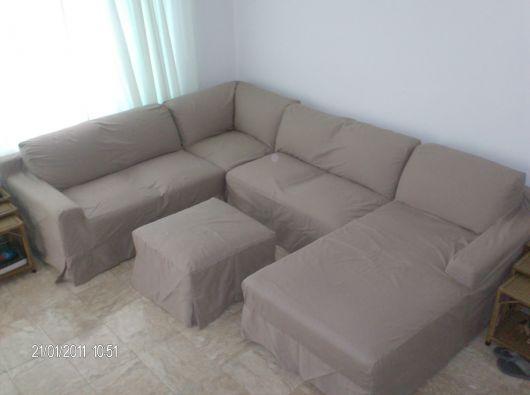 sofá de canto com chaise