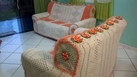 capa com crochê barroco