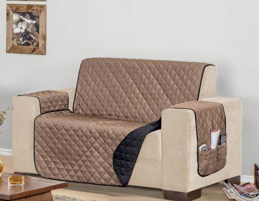 protetor sofá dupla face