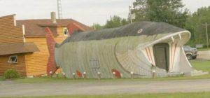 casas feias com formato de peixe