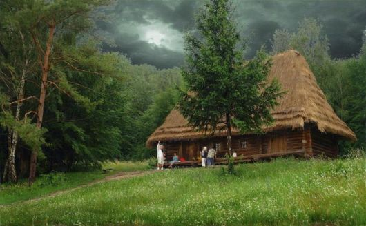 casas-na-floresta-simples-montanha