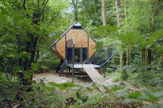 casas-na-floresta-simples-pequena