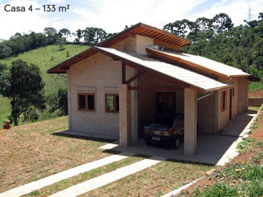 Casas na ro a rurais 40 projetos simples lindos e for Modelo de casa pequena para construir