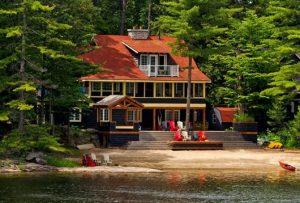 fotografias de casas no lago