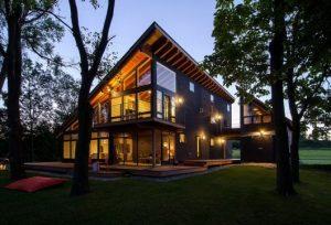 casas no lago estilo modernista