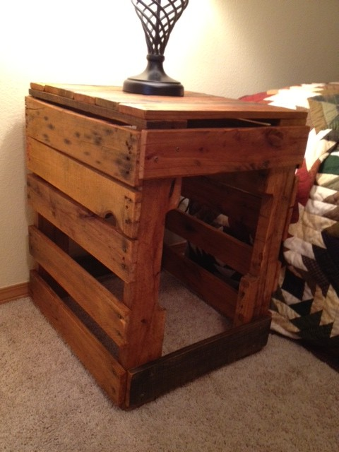 Pallet Bed End Table