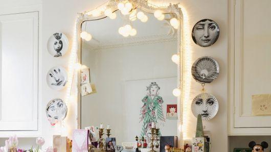 decoracao-com-pisca-pisca-em-espelhos