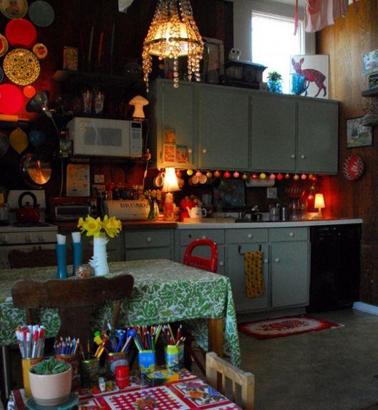 decoracao-com-pisca-pisca-para-cozinha-colorida