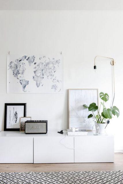 decoracao-de-aparador-classico-branco
