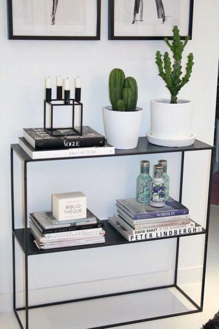 decoracao-de-aparador-minimalista