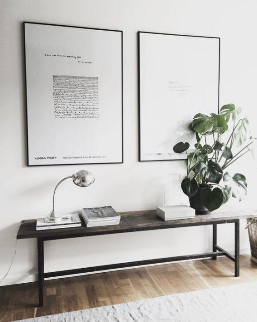 decoracao-de-aparador-moderna-simples