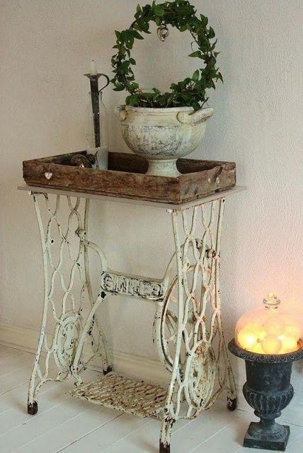 decoracao-de-aparador-rustico-antigo