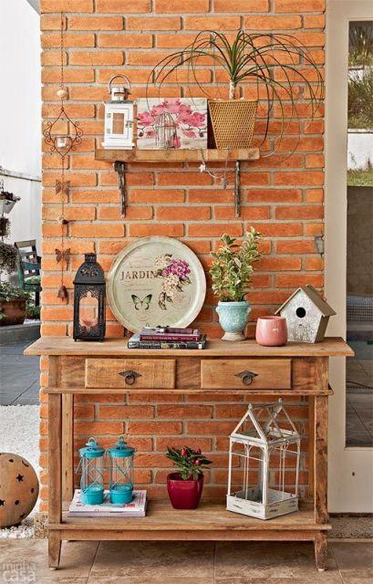 decoracao-de-aparador-rustico-jardim