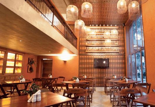 Decora o de bar estilos e 48 inspira es de como decorar for Mobiliario rustico para bares