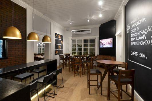 decoração moderna bar pequeno