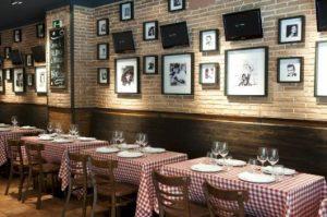 decoração de restaurantes molde italiano