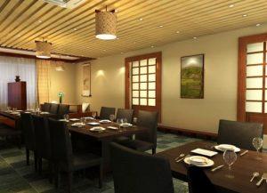 decoração de restaurantes modelo japones
