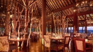 decoração de restaurantes com árvores