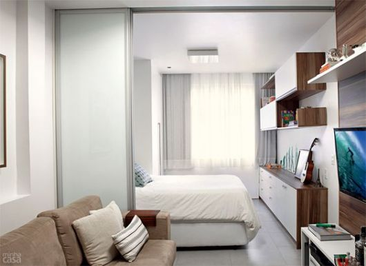quarto integrado com sala