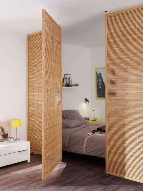 divis rias para quarto 60 modelos e ideias incr veis. Black Bedroom Furniture Sets. Home Design Ideas