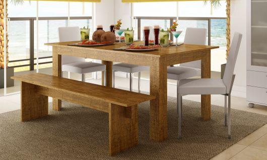 mesa-com-banco-de-madeira