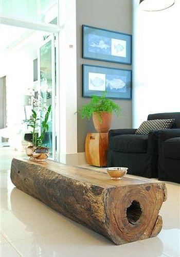 mesa de tronco comprido