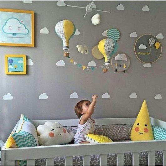 Quarto de Bebê Cinza 40 fotos de projetos inspiradores! ~ Quarto Todo Cinza