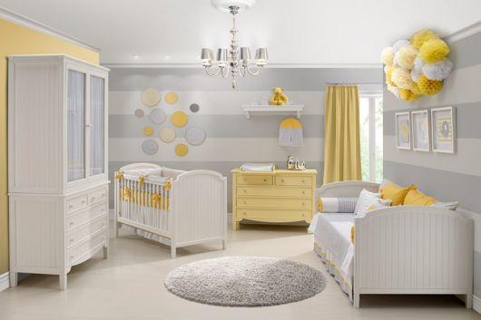 Quarto de Bebê Cinza 40 fotos de projetos inspiradores! ~ Quarto Rosa Amarelo