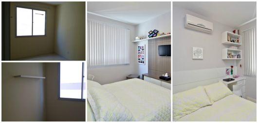 quarto feminino antes e depois