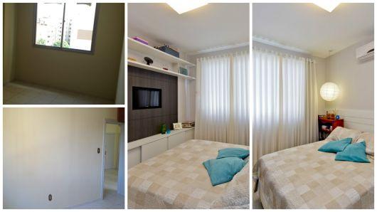 quarto apartamento antes e depois