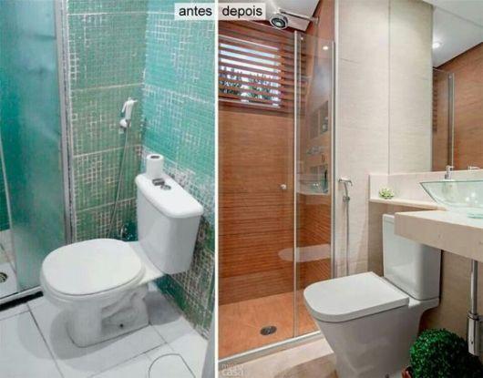 Reforma de Banheiro Ideias Criativas e 35 projetos inspiradores! -> Reformar Banheiro Pequeno Quanto Custa