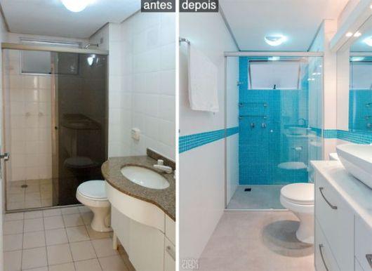 Reforma de Banheiro Ideias Criativas e 35 projetos inspiradores! # Ideias Para Reformar Armario De Banheiro