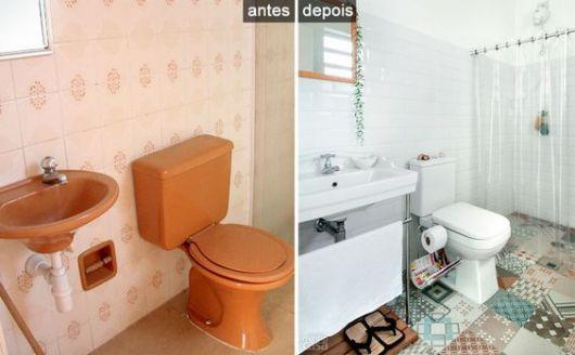 Reforma de banheiro ideias criativas e 35 projetos inspiradores! -> Armario De Banheiro Antigo