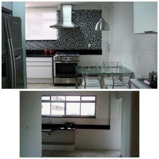 cozinha com cortina