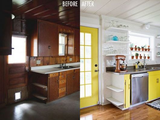 reforma cozinha de madeira