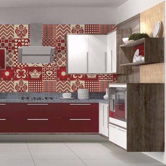 adesivo-para-cozinha-ladrilho-hidraulico-vermelho