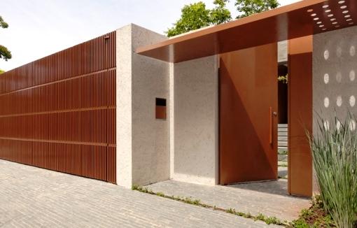Fachadas de muros materiais indicados dicas e de 80 modelos - Tipos de muros ...